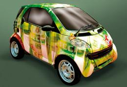 Автомобил с рекламни графики от фолио