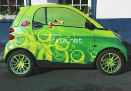 Автомобилни графики от фолио с ламинат