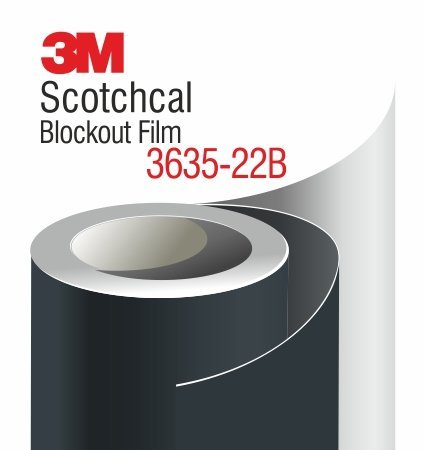 3M 3635-22 Scotchcal Blockout Film - black color