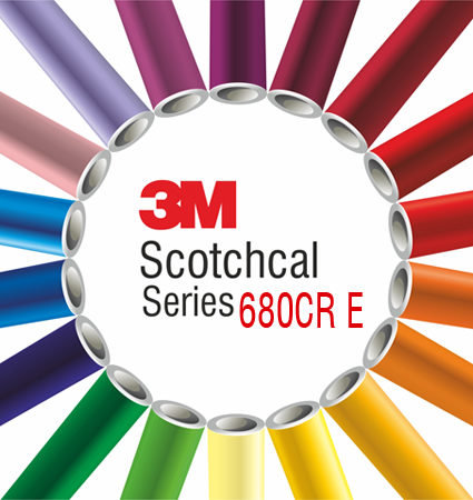 3M Scotchlite 680CR E Comply - синьо и черно светлоотразително фолио