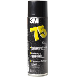 3M Spray 75 - repositionable aerosol adhesive