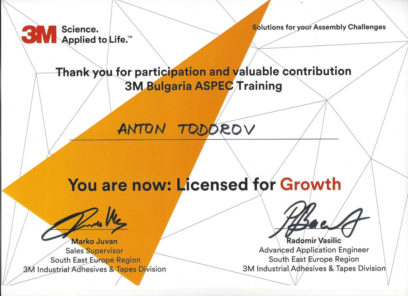 3M Authorized Dealer - Partners Ltd. certificate