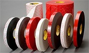 Double sided tapes and adhesives