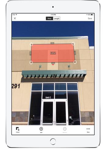 Spike измерване на фасада за рекламна табела