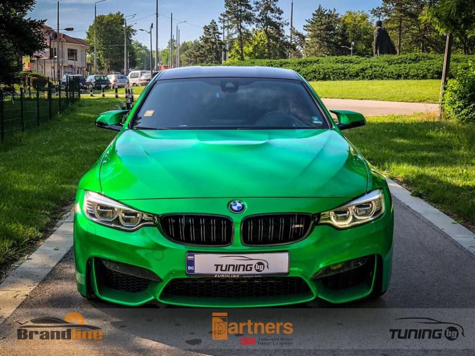 Облепяне на BMW M4 с 3M 1080 G336 Green Envy