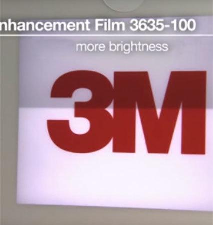 3M 3635-100 LEF film демонстарация на светене на табела с рефлективно фолио