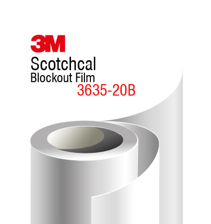 3M 3635-20 Blockout Film - бяло блокаут фолио