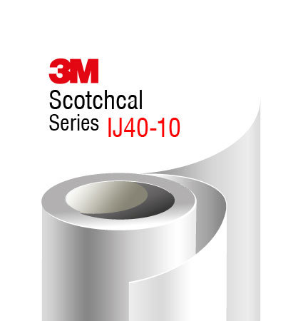 3M Scotchcal IJ40-10 Print Film, white gloss