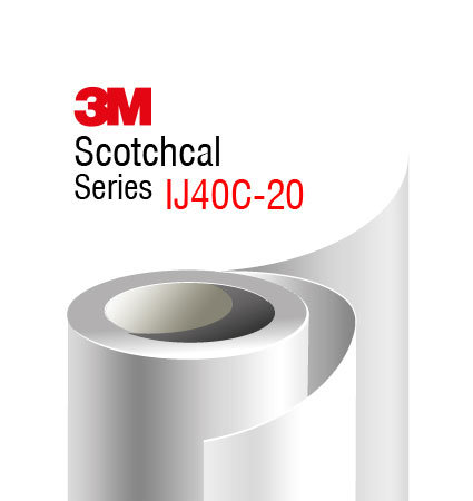 3M Scotchcal IJ40C-20 Print Film, Comply and Controltac adhesive