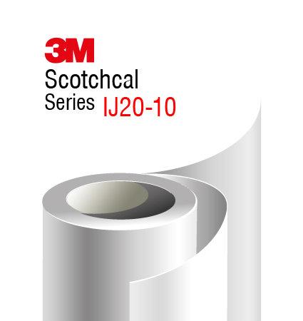 3M Scotchcal IJ20-10 бяло фолио с гланц финиш за печат