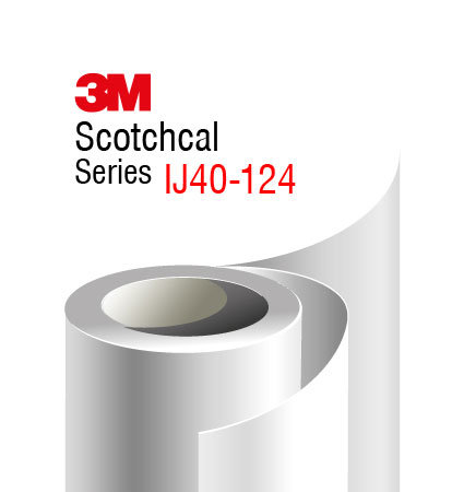 3M Scotchcal IJ40-124 Digital Print Film, clear matte