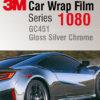 3M 1080 GC451 Gloss Silver Chrome - огледално фолио за коли