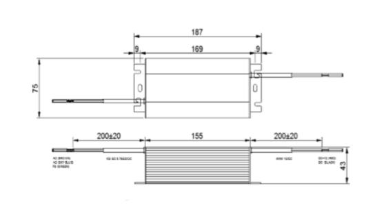 G.O.Q. LED 100W Converter - схема