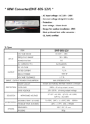 G.O.Q. LED Converter -захранващ драйвер 60W DNT 60S-12V PDF