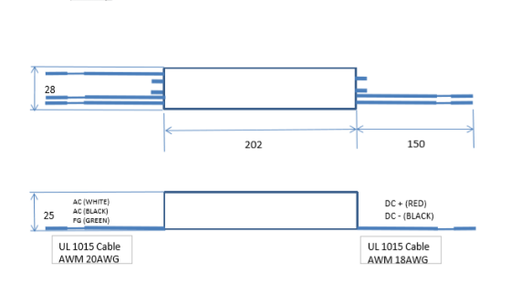 G.O.Q. LED Converter -захранващ драйвер 60W DNT 60S-12V PDF схема
