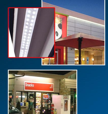 SloanLED HighLiner 2 - LED лампи за козирки на сгради, магазини
