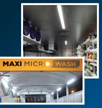 SloanLED HighLiner 2 - LED лампи за хладилни помещения, в автомивки