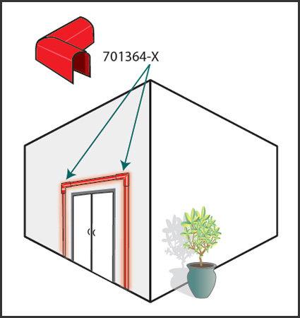 SloanLED LEDStripe - Преходен капак за вътрешен ъгъл