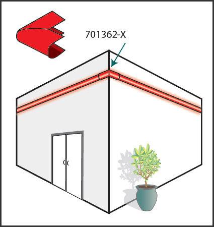 SloanLED LEDStripe - преходен капак за външен ъгъл