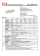 LED драйвер Mean Well LPV100-12 100W - pdf бюлетин