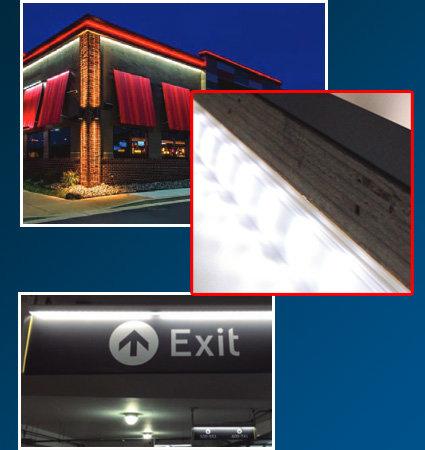 SloanLED SlimLINER - canopies malls