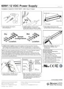 SloanLED Power Supplies 60W 60W1 PDF - ръководство за инсталация
