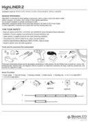 SloanLED HighLINER 2 - pdf ръководство за инсталация