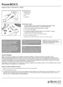 SloanLED PosterBox 3 PDF Ръководство за инсталация