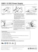 SloanLED Power Supply 120W D1 Install guide PDF