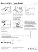 SloanLED Power Supply 25W Compact Install guide PDF