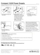 SloanLED Power Supply 25W Compact 12/25 PDF - ръководство за инсталация