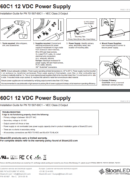 SloanLED Power Supply 60W 60C1 PDF Install guide