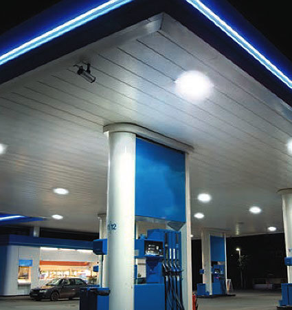 SloanLED Modus Fuel Canopies - LED lighting systems for gas stations