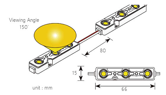 G.O.Q. 3 LED 5630 схема светодиодния модул