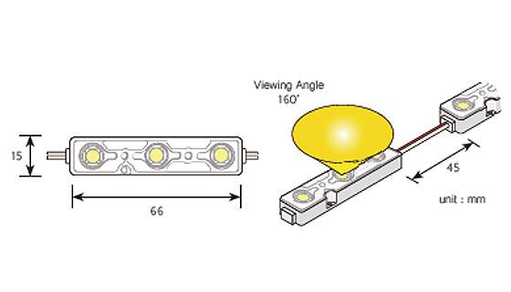 G.O.Q.3 LED Shallow схема на LED модула