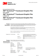 3M Scotchcal Translucent IJ 3630-20 - product bulletin