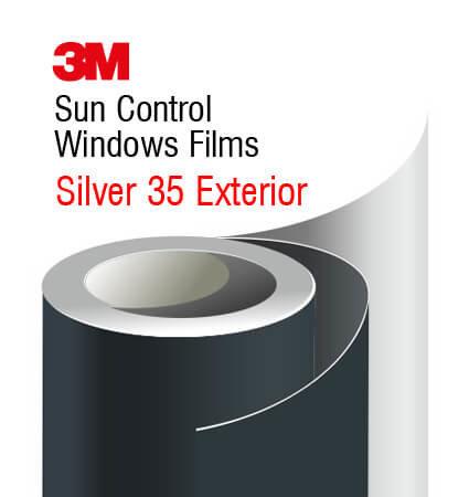 3M Sun Control Window Film Silver 35 Exterior - слънцезащитно фолио