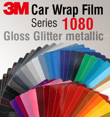 3M Car Wrap Film 1080 - металик брокат цветове