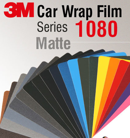 3M Car Wrap Film 1080 – Matte colors