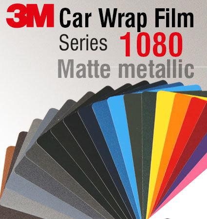 3M Car Wrap Film 1080 - мат металици цветове
