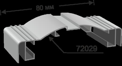Профил 72029 за двустранна светеща табела с плексиглас 80мм