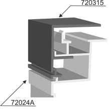 Aluminum profile for double-side lightbox