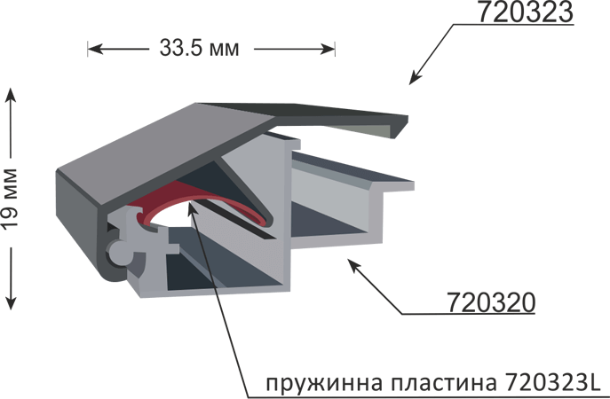 Профил 720320 за снап рамка 19мм