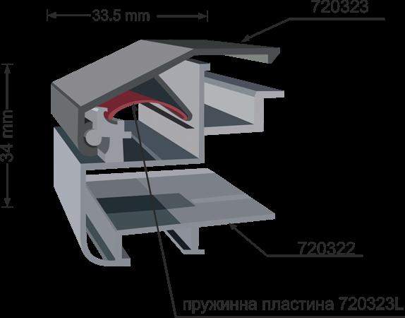 720322 aluminum clip frame