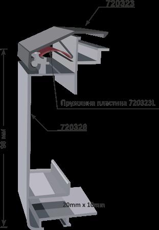 720326 clip frame lightbox, 98mm