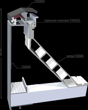 Профил 720340 за снап рамка 145мм145mm