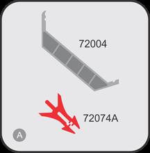 Аксесоари 72004 и 72074А за профил 180 мм - едностранна светеща табела