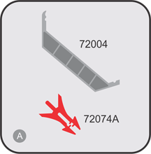 Accessories 72004 и 72074А for profile 720389