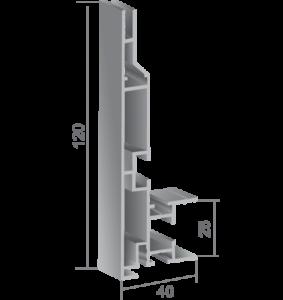 Профил за едностранни светещи кутии 720416