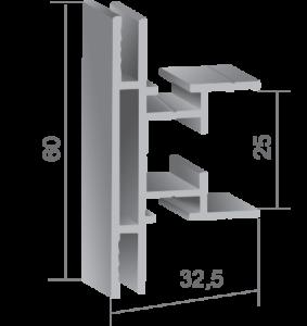 Профил за двустранни светещи кутии 720420